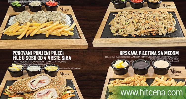 av viva, restoran splav viva, piletina popusti, 2 porcije pilećih specijaliteta po izboru, hitcena.com, hit cena, hrana popusti, splav viva popusti